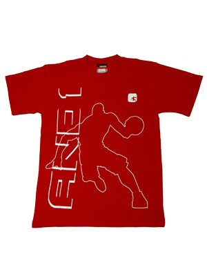 AND1 DENTON SS TEE V.RED