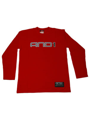 AND1 DELROY LS TEE RED